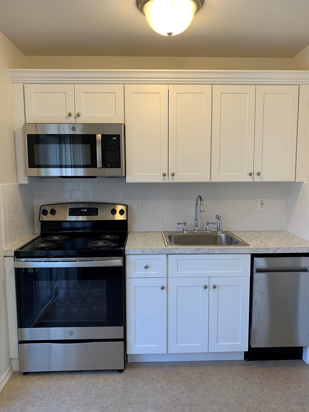 Kitchen in Brookwood apartment