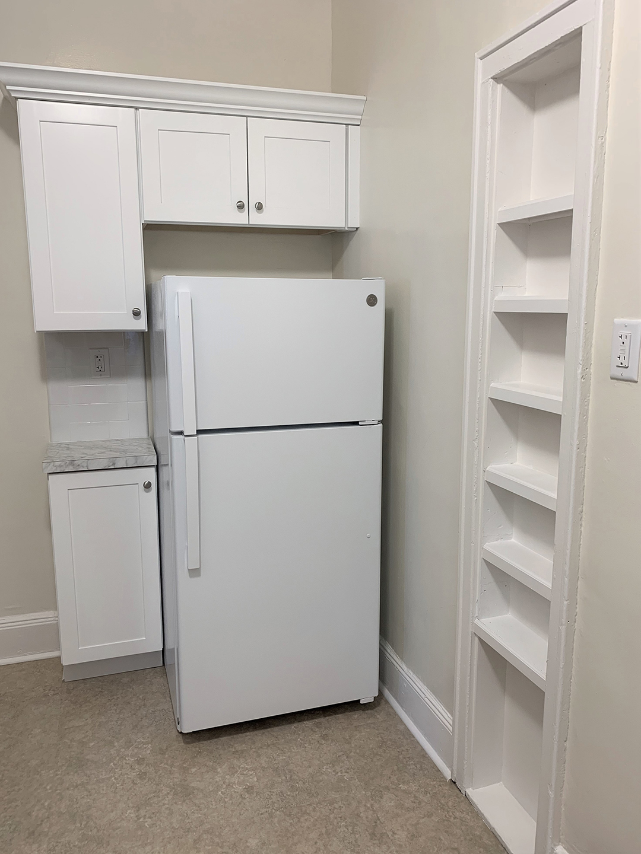 Kitchen interior of Elm Court apartment