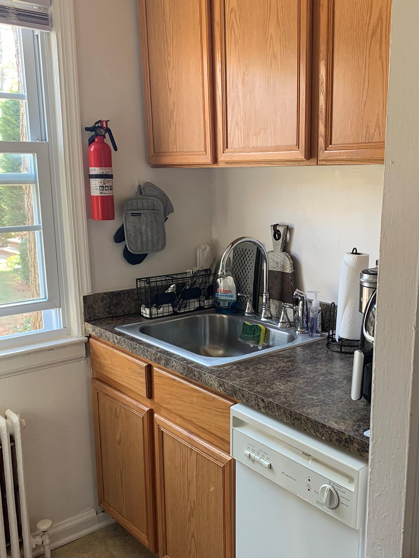 Kitchen interior of Garfield Park apartment