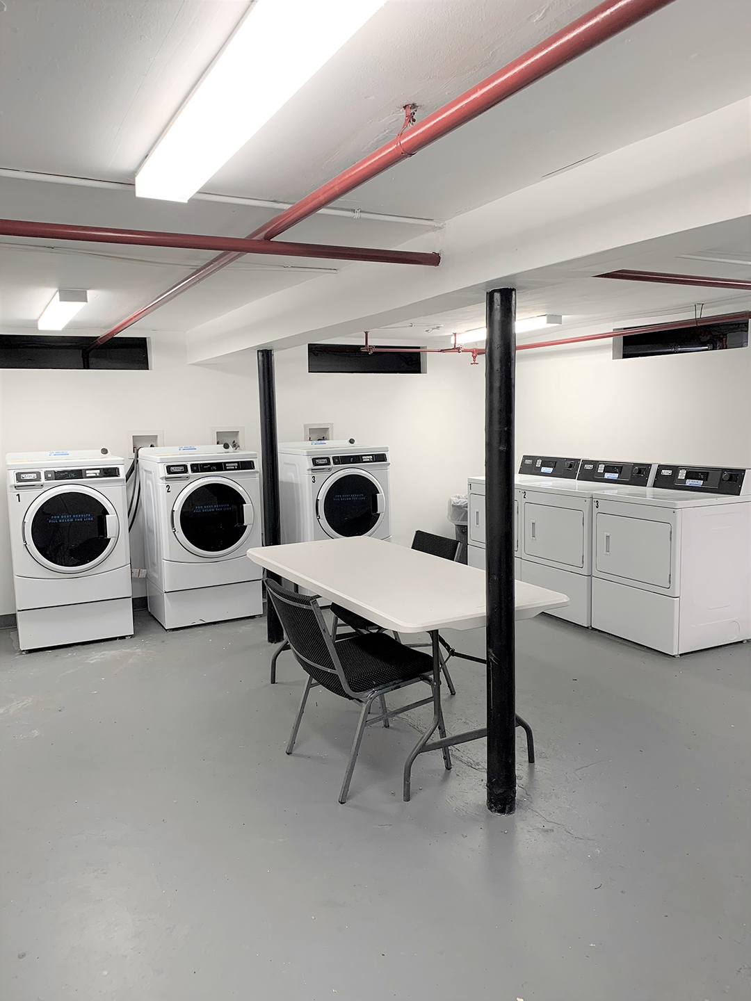 Laundry facilities at Sutton Commons Apartments