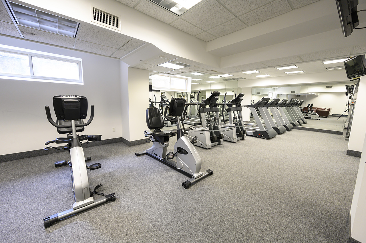 Fitness equipment at Westover House